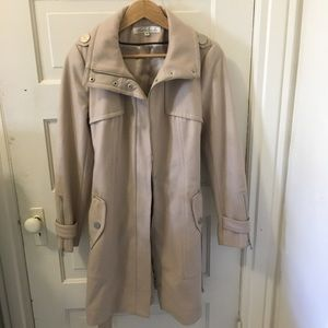 Kenneth Cole Cream Winter Trench